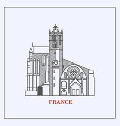 travel france landmark iconmost famous vector image