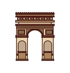 triumph arch france isolated icon vector image