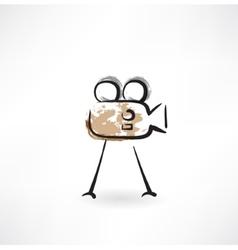 video camera grunge icon vector image