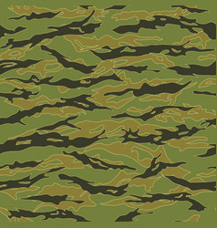 vietnam tiger stripe camouflage seamless patterns vector image