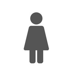 women restroom grey sign stick eps 10 vector image