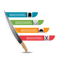 Wood kitchen knife graphic template vector