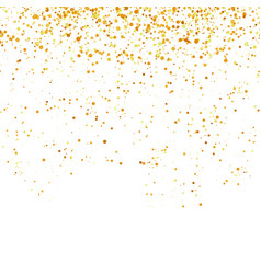 yellow confetti isolated on white background gold vector image