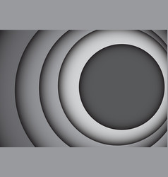 abstract gray tone circle overlap curve vector image