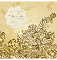 abstract invitation card with abstract wave vector image