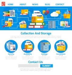 Archive page design vector