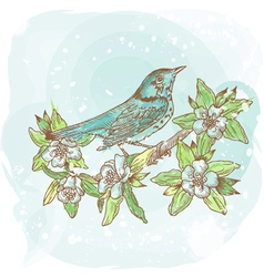 background spring bird vector image vector image