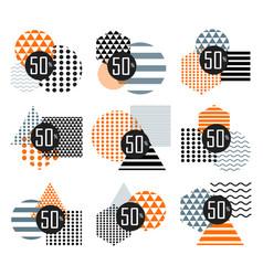 halloween sale sticker set vector image vector image