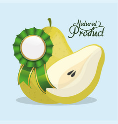 pear natural product quality vector image vector image