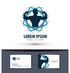 sport logo design template fitness or gym vector image vector image