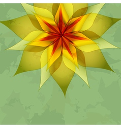 Vintage green background with colorful flower vector image vector image
