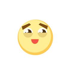 yellow emoji icon for app game ui or web design vector image vector image