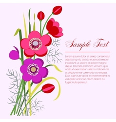 Anemone bouquet vector image