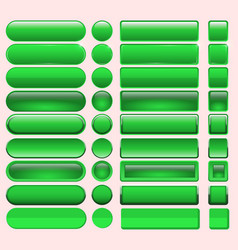 buttons green many for website design vector image