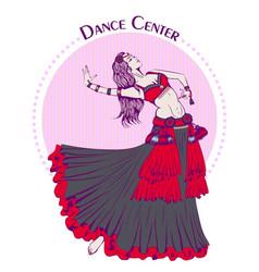 dance line color tribal belly dance vector image vector image