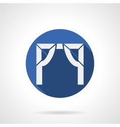 Entrance arch blue round icon vector image