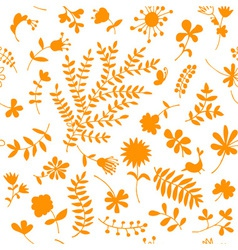 Floral ornament sketch seamless background vector image