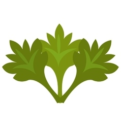 Green tree leaves graphic vector