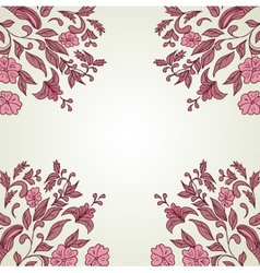 Hand drawn decorative background with flowers vector image