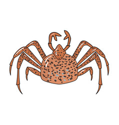 king crab icon in cartoon style isolated on white vector image