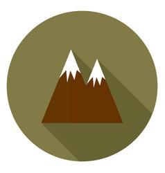 Mountain with a long shadow vector