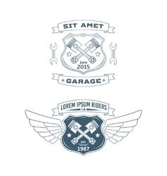 Set of Motor badges vector image vector image