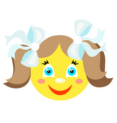 smiley smiles girl vector image vector image