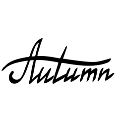 Word Autumn vector image