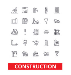 construction architecture buildings real estate vector image