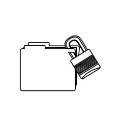 figure file and close lock icon vector image vector image