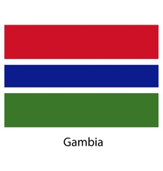 Flag of the country gambia vector image vector image