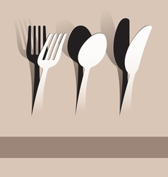 paper cut fork spoon and knife vector image vector image