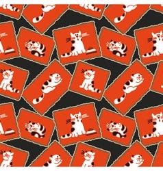 Seamless pattern kittens vector image vector image