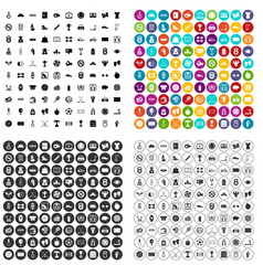 100 basketball icons set variant vector image