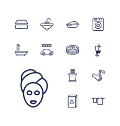 13 wash icons vector