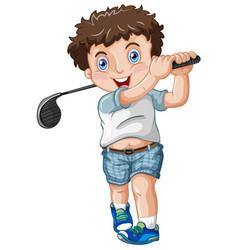 A chubby male golfer vector