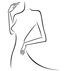 abstract slim female outline vector image