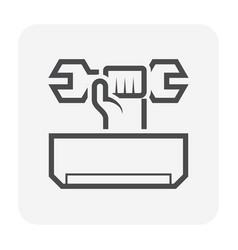 Air conditioner service icon vector