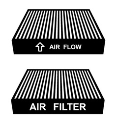 air filter symbols vector image