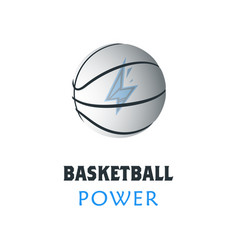 Basketball player logo template creative sport vector