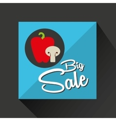 Big sale concept pepper mushrooms vector