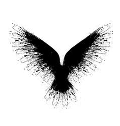 black blots raven vector image