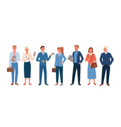 Business people employee in office outfit set vector