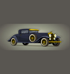 cartoon retro vintage luxury car icon vector image