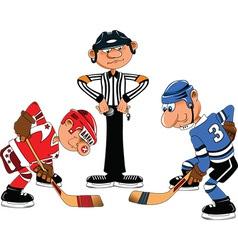 Cartoon sports player vector image