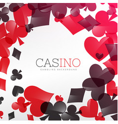 Casino background design with playing cards symbol vector