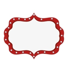 Circus light banner icon vector