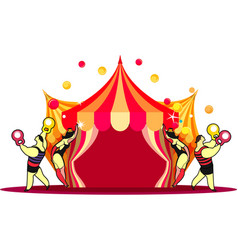 Circus tent show vector