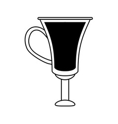 Coffee beverage in mug icon image vector