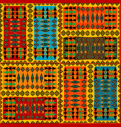 colorful background with african ethnic motifs vector image